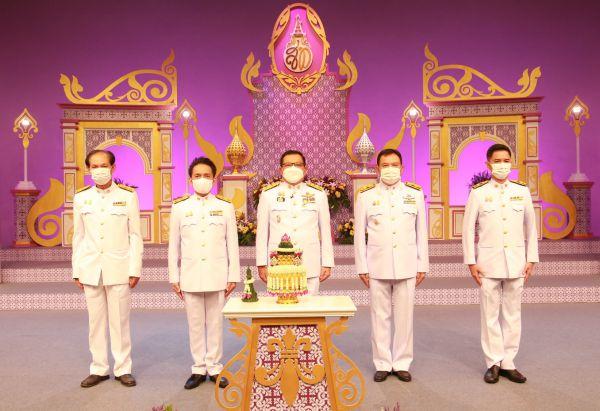 คณะผู้บริหารบันทึกเทปโทรทัศน์ ถวายพระพรฯ สมเด็จพระนางเจ้าสุทิดา พัชรสุธาพิมลลักษณ พระบรมราชินี เนื่องในโอกาสวันเฉลิม พระชนมพรรษา 3 มิถุนายน 2564